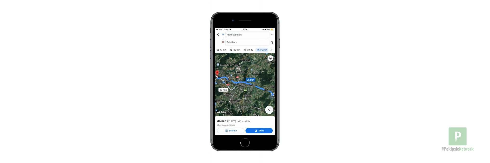 Zusätzliche Velorouten in Google Maps